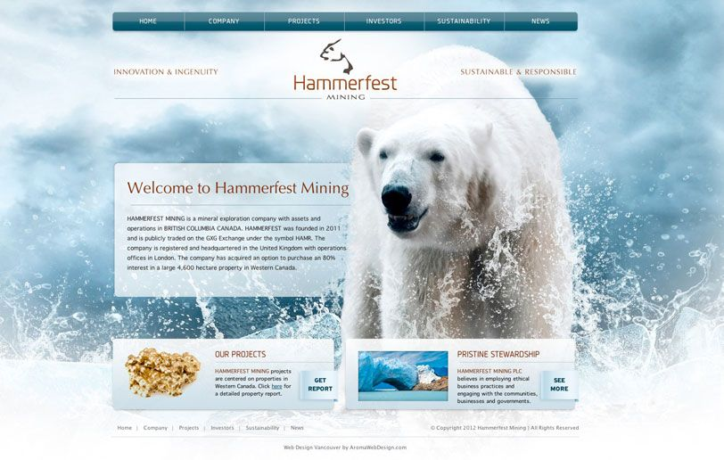 Vancouver Mining Web Design