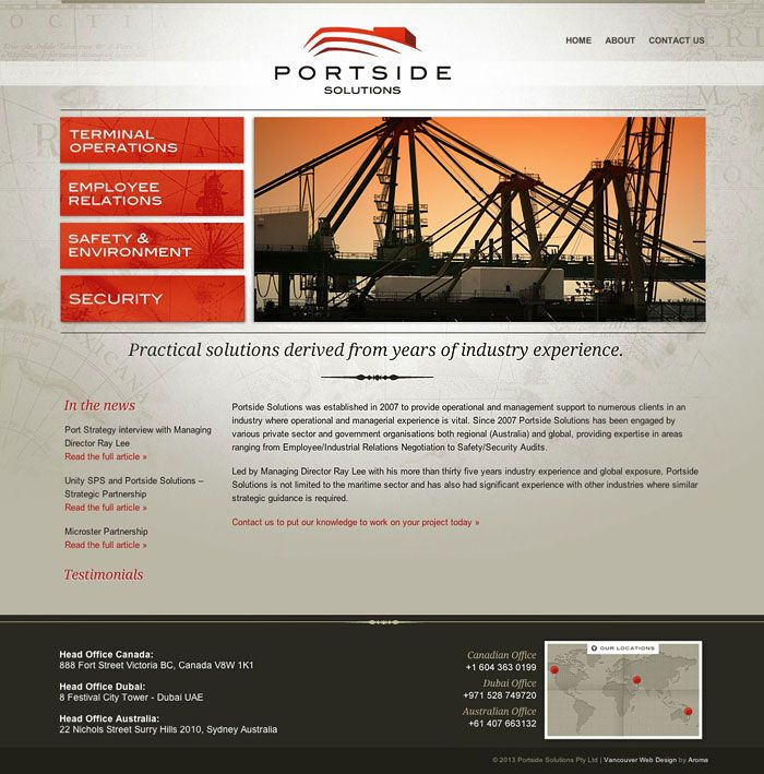Professional Shipping Web Design