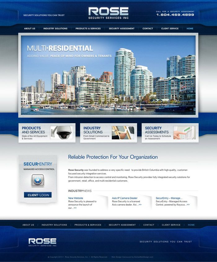Professional Security Web Design