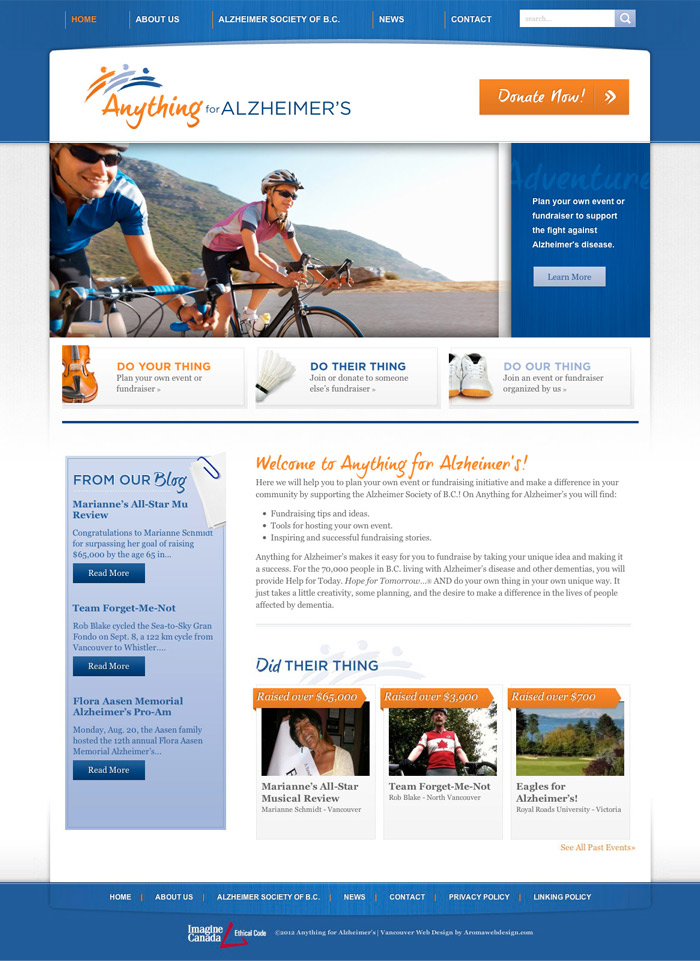 Non Profit Medical Research Web Design