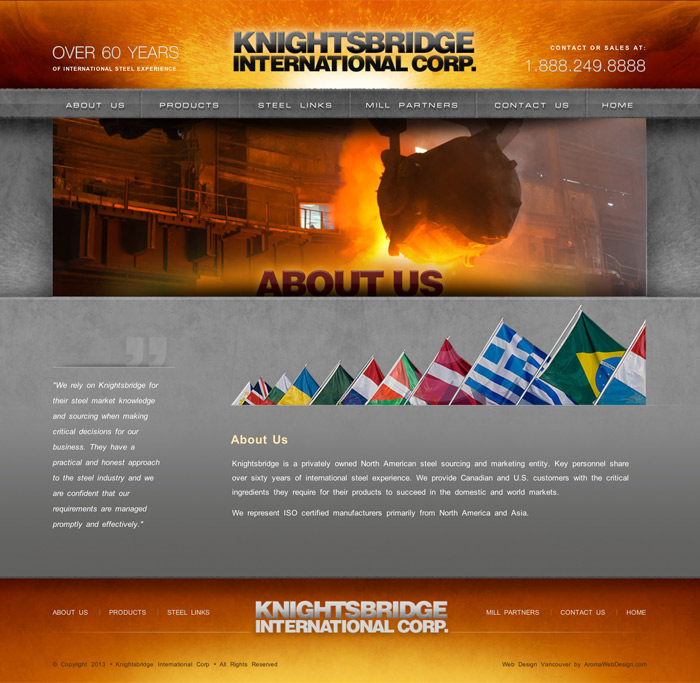 Custom Smelting Website Design
