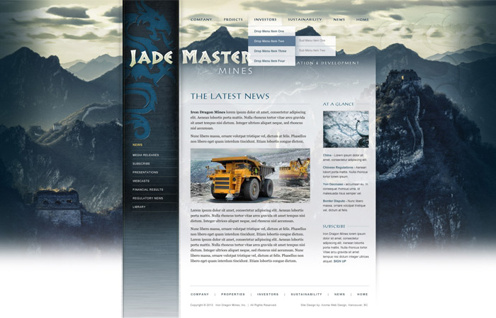 Vancouver Mining Brand Design