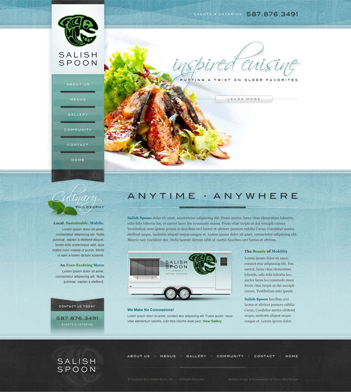 Creative Catering Company Website