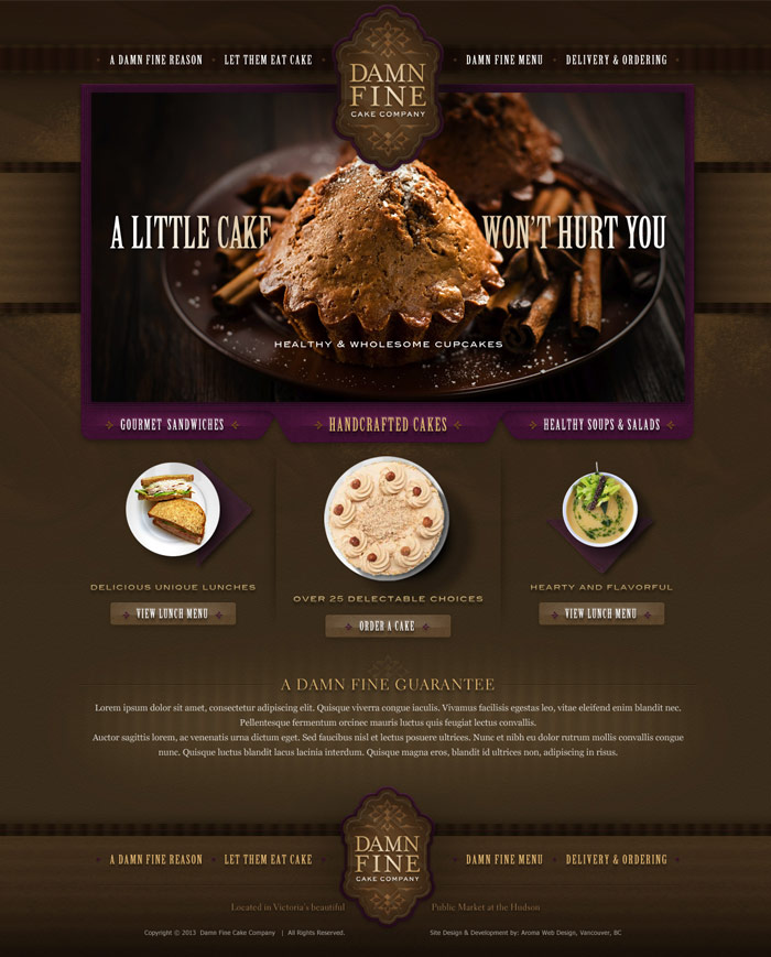 Artistic & Creative Restaurant Web Design