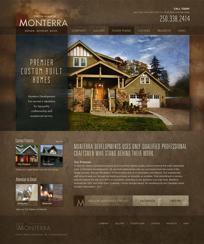 Custom WordPress Construction Website