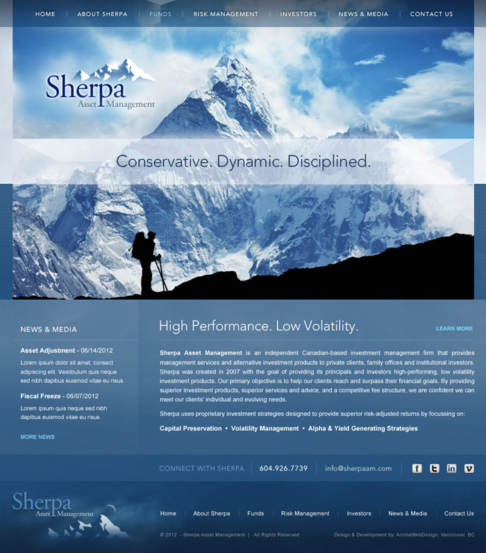 Website Design for Vancouver Financial Firm