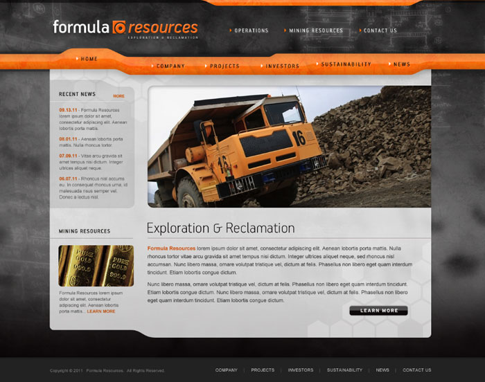 Mining Resources Website