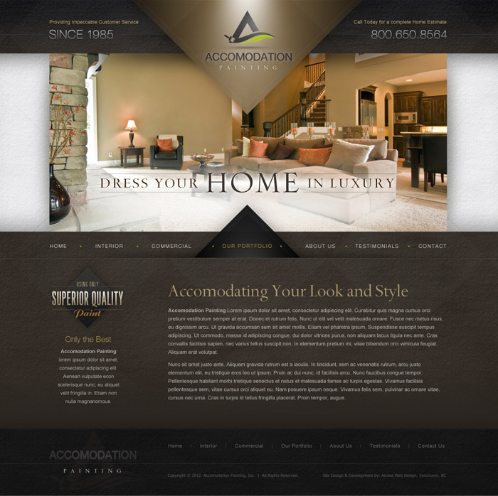 Painting Company Web Design