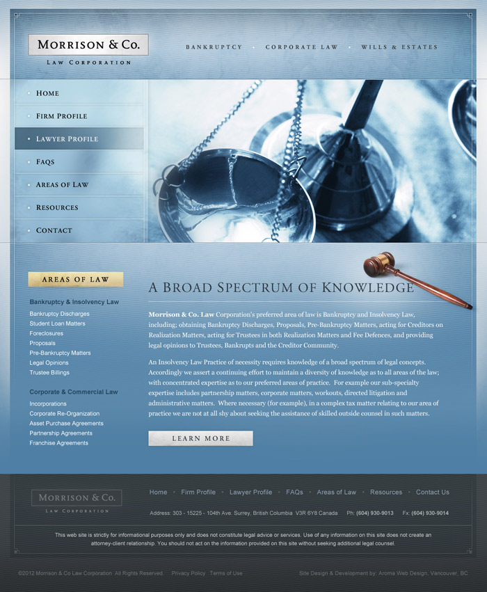Traditional Lawyer Website