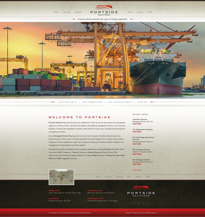 Shipping & Transport Website Design