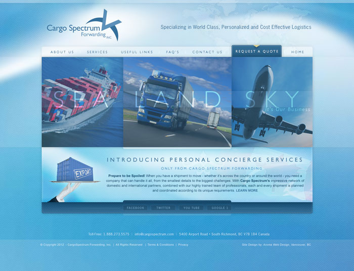 Cargo & Shipping Company Website