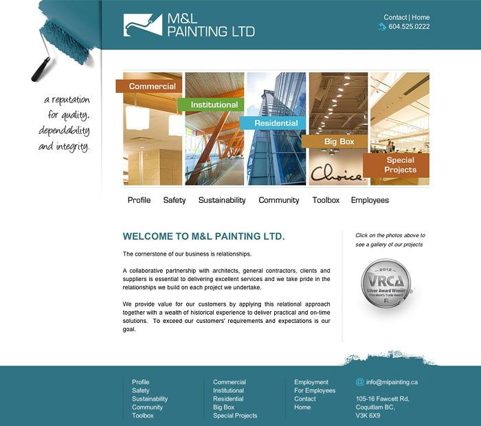 Vancouver Painting Web Design