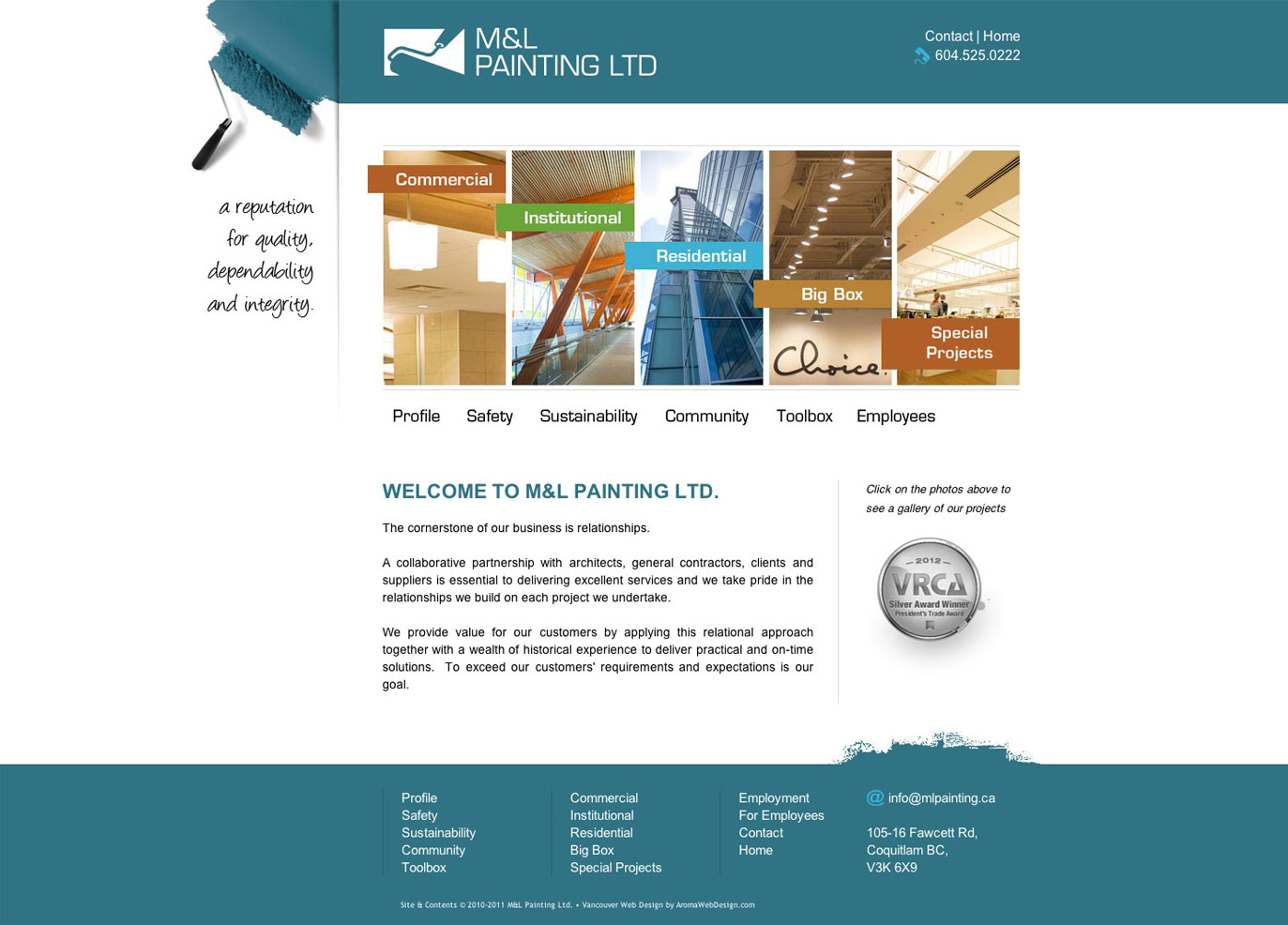 painting company websites