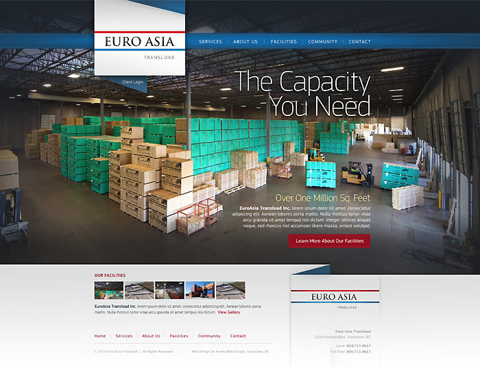 Transloading Website Design