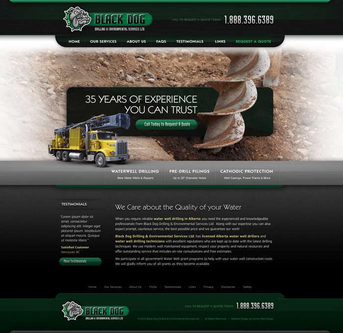 Construction & Drilling Website