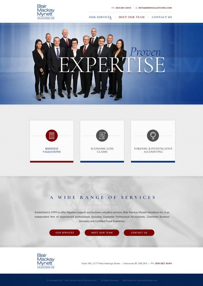 Vancouver Financial Firm Website