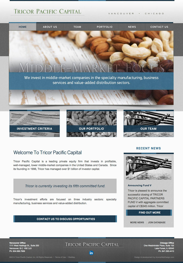 Capital Company Custom WordPress Design