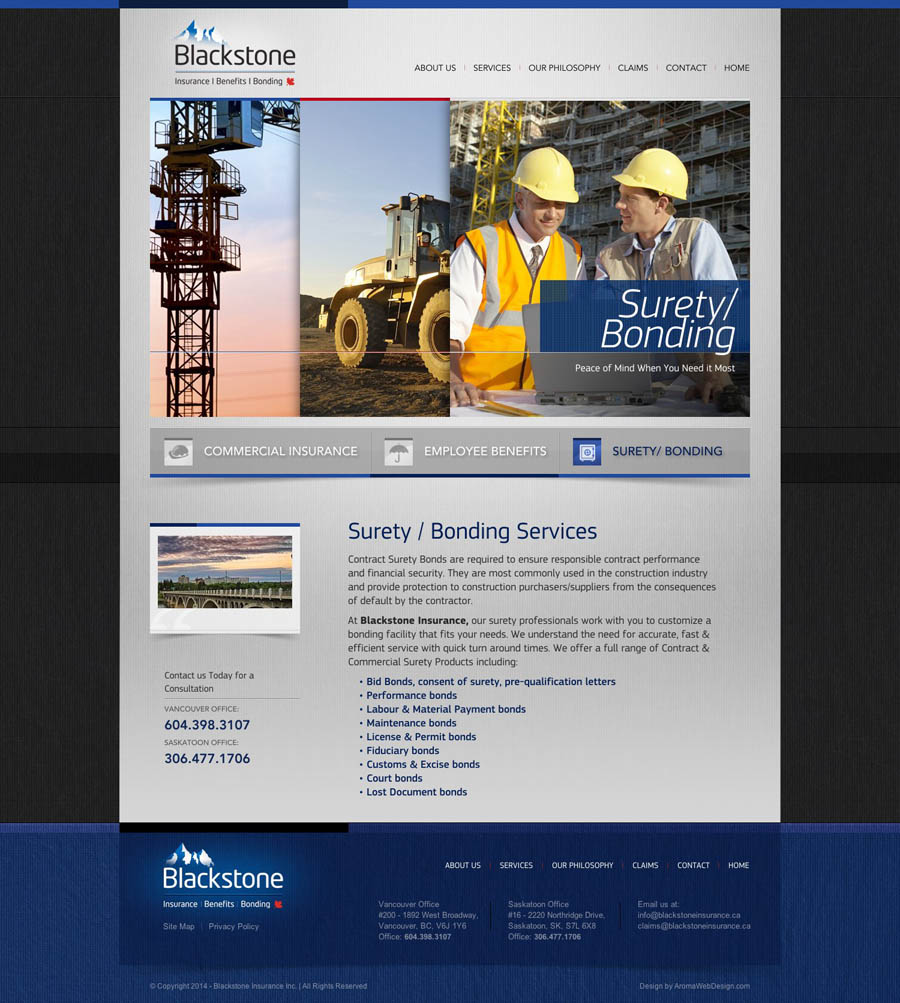 Custom WordPress Design for Insurance Company