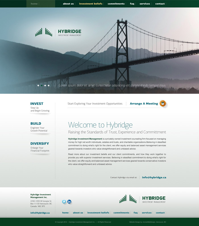 Investment Management Website Creation