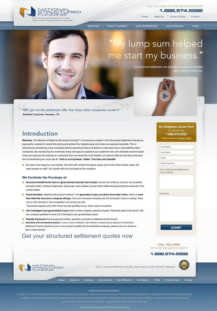 Structured Funding Website