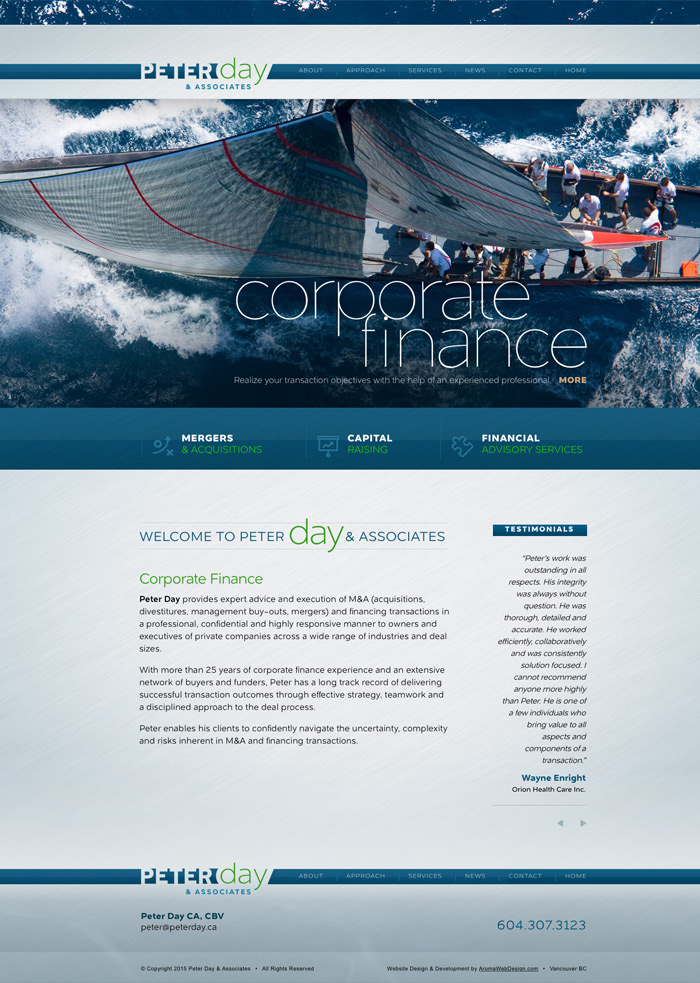 Financial Planner Web Design
