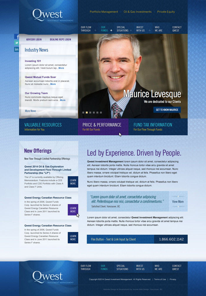 Vancouver Investment Management Firm Website