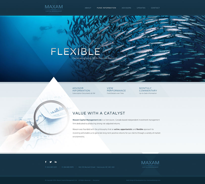 Vancouver Capital Company Web Design
