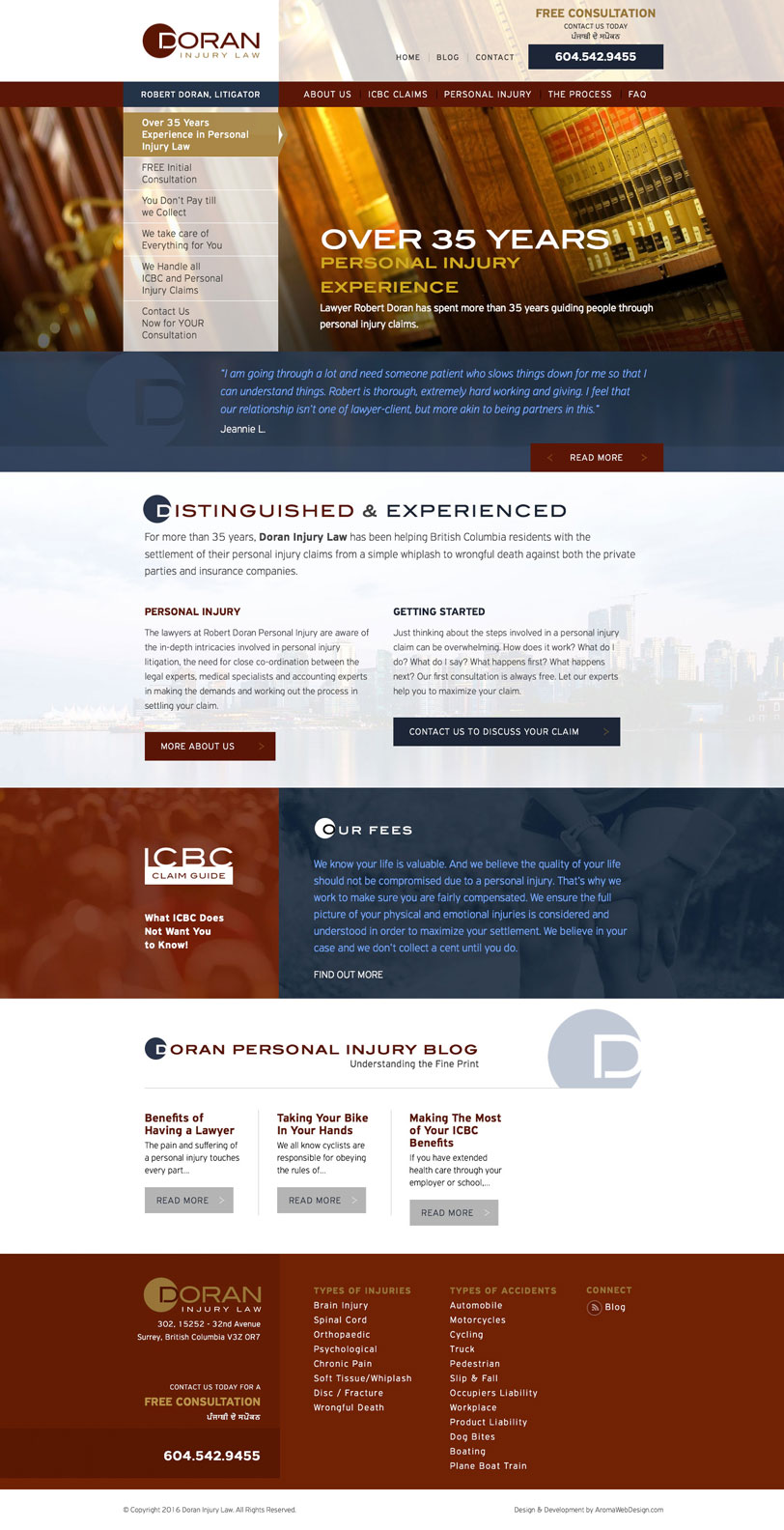 Custom WordPress Web Design for Vancouver Lawyer
