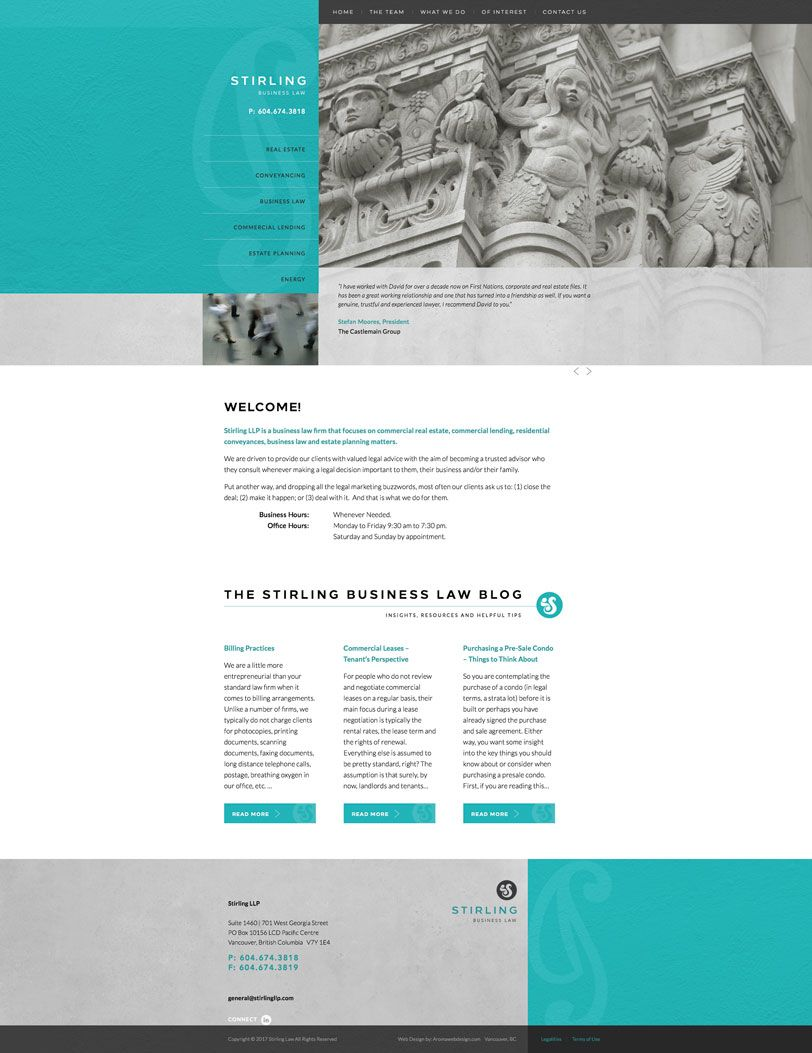 vancouver law firm web design