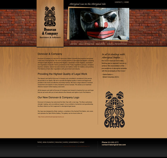 Vancouver Law Firm Website Design