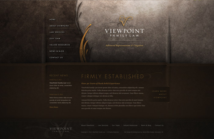 Traditional Vancouver Lawyer Website Design