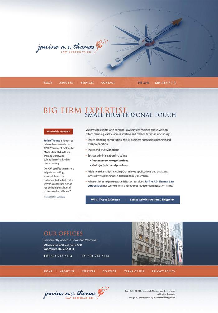 Legal firm website design