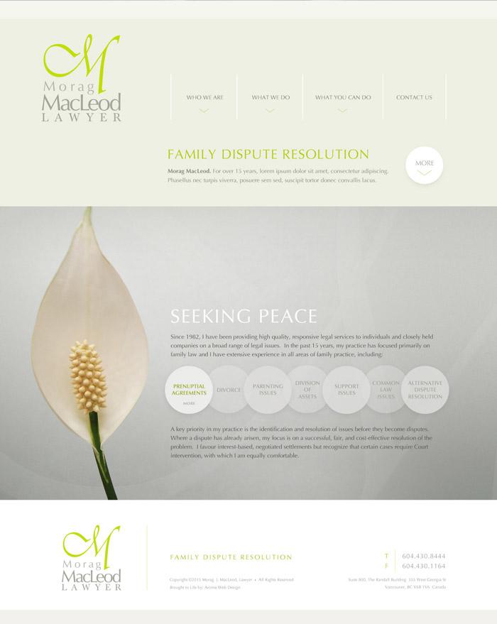 Vancouver lawyer website design