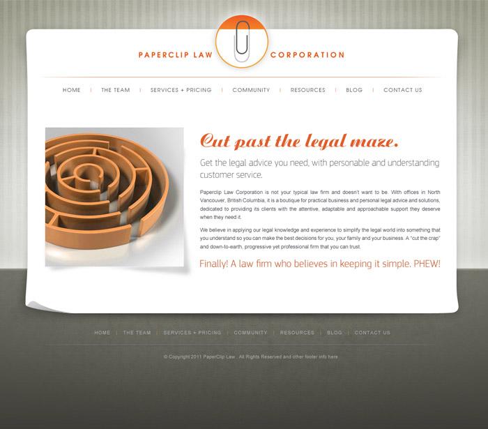 Modern Legal Web Design