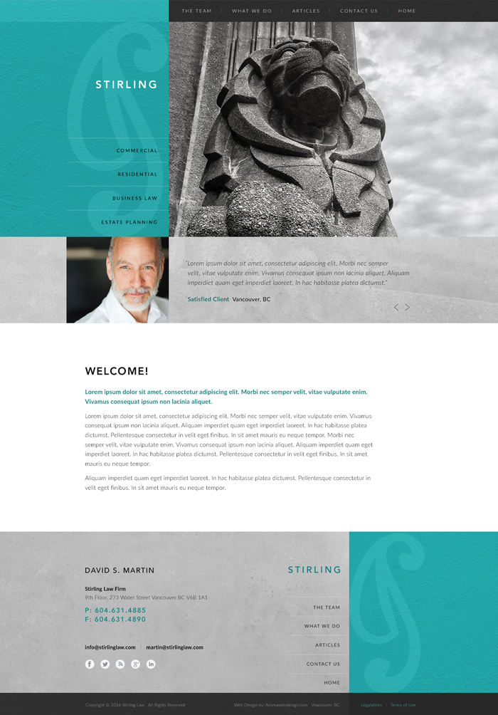 Vancouver Lawyer WordPress Design
