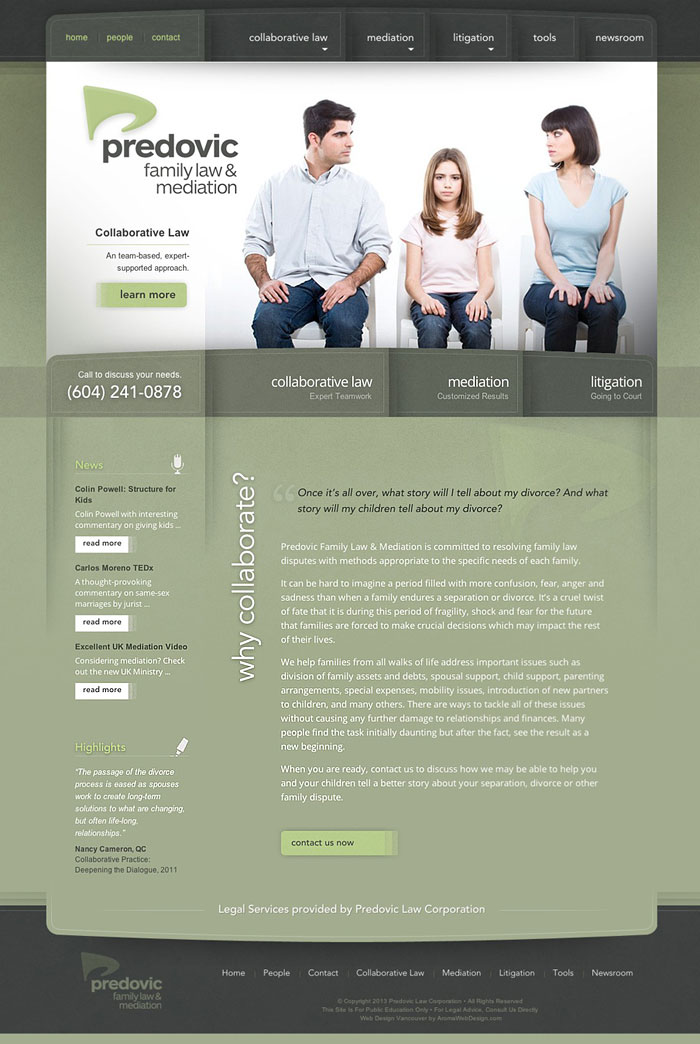 Vancouver Lawyer WordPress Web Design