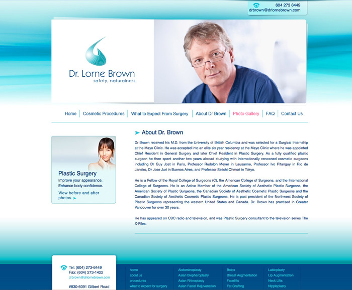 Physician Web Design for Vancouver Doctor