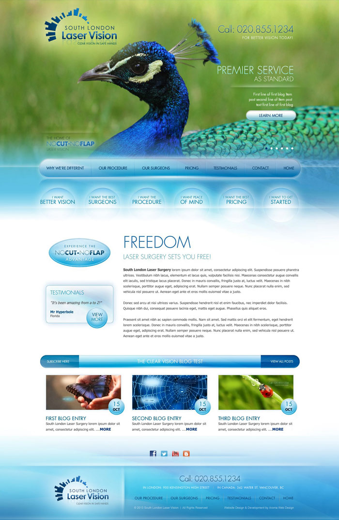 Surgery Center Web Design for Medical Doctor