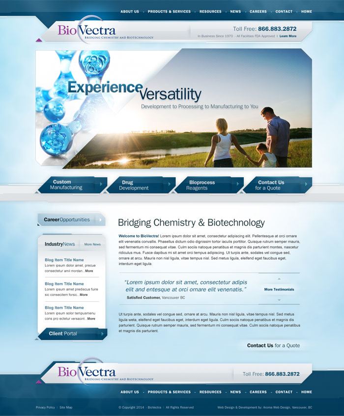Medical Pharmaceutical Company Website