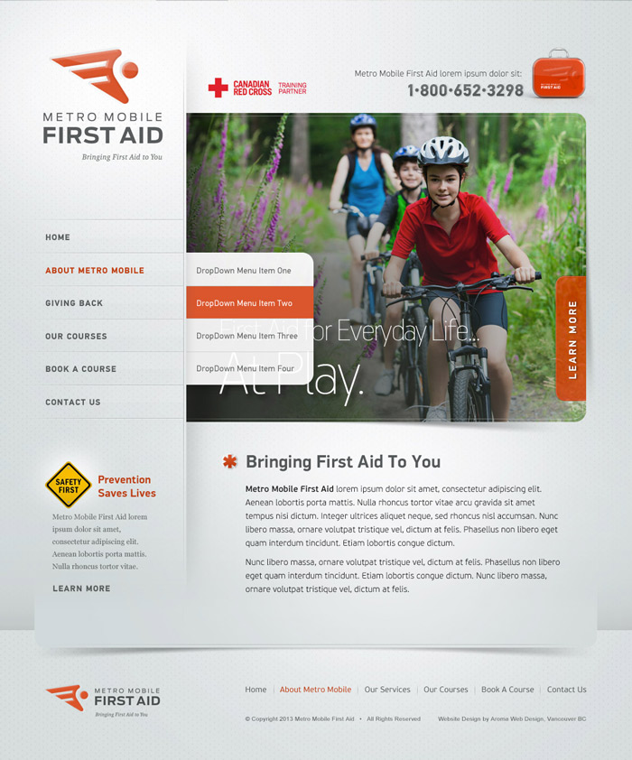 First Aid Medical Web Design & Brand
