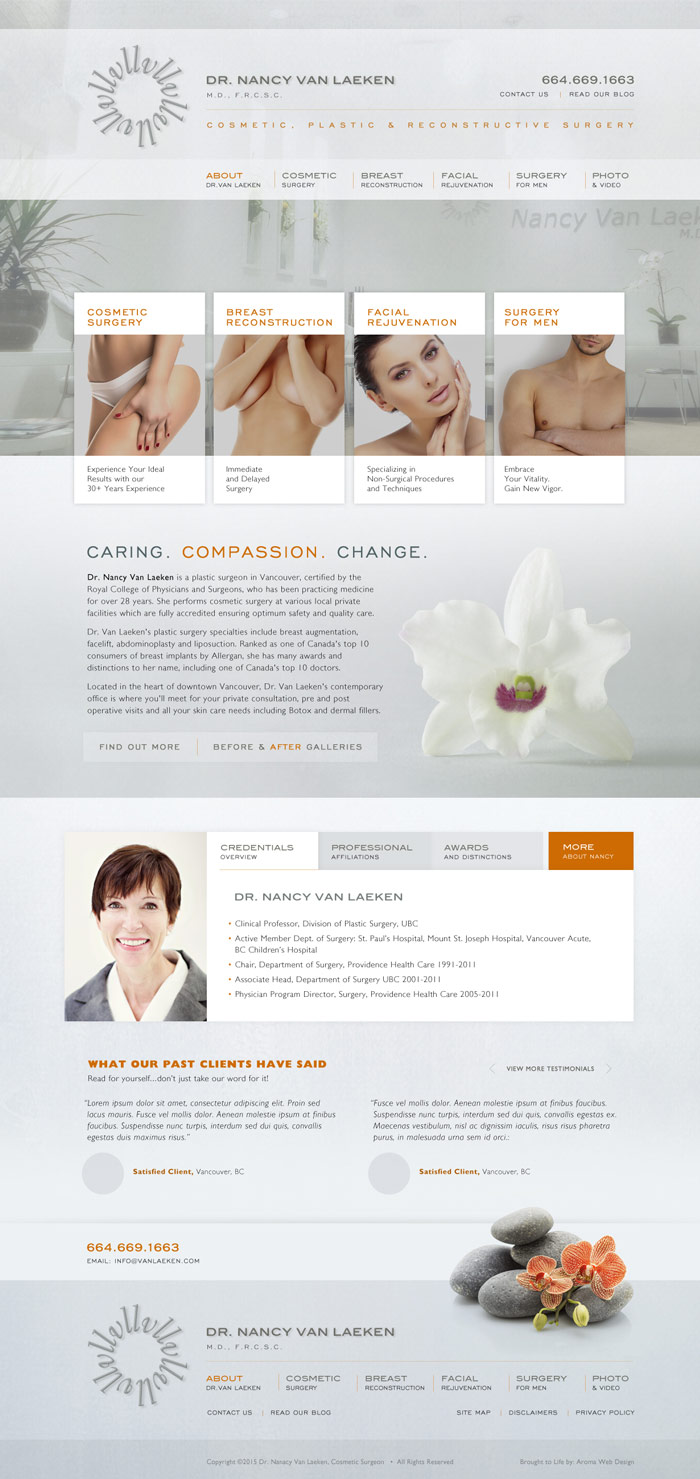 Vancouver Plastic Surgeon Web Design