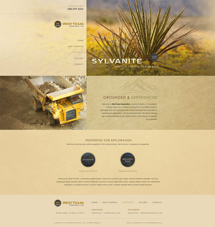 Mining Project Website Design