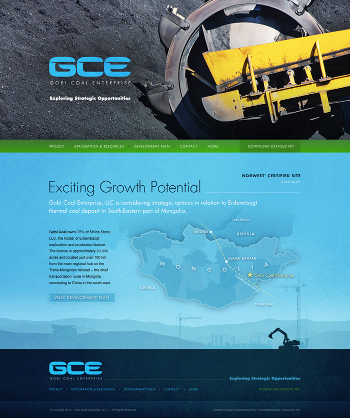 Mining Group Web Design