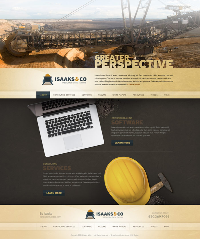 Mining Company Website Design