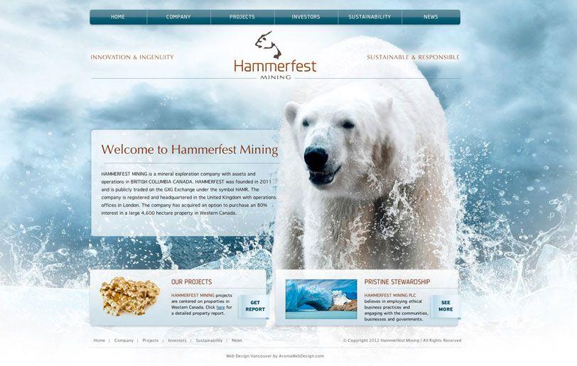 Vancouver Mining Web Design