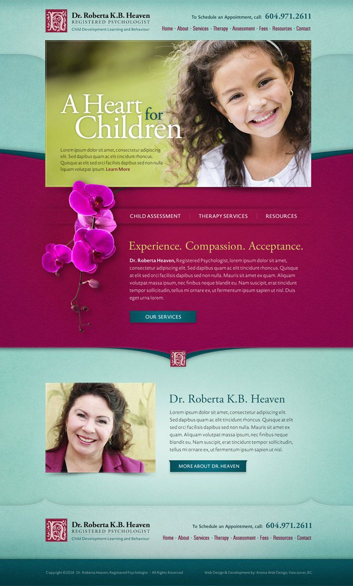 Child Psychologist Web Design