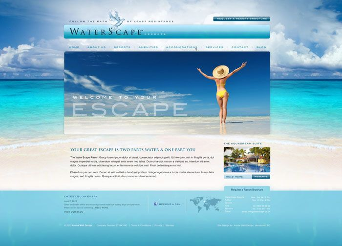 Resort & Spa Web Design