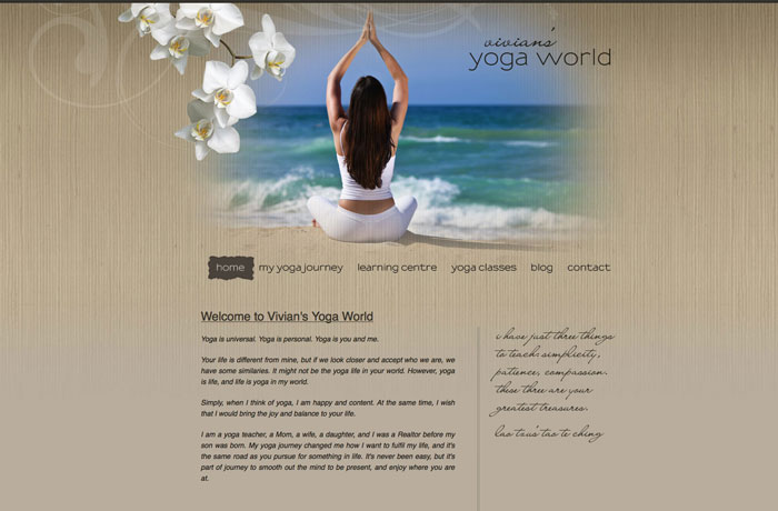 Yoga Spa Web Design