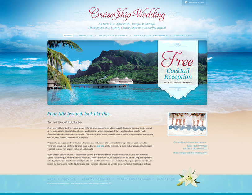 Creative Travel & Spa Web Design