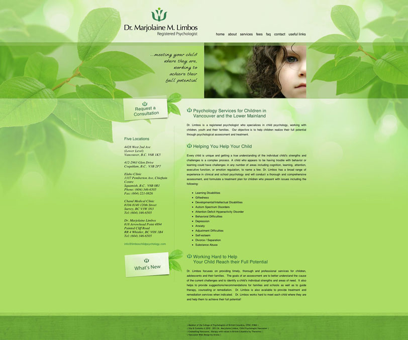Holistic Psychologist Web Design